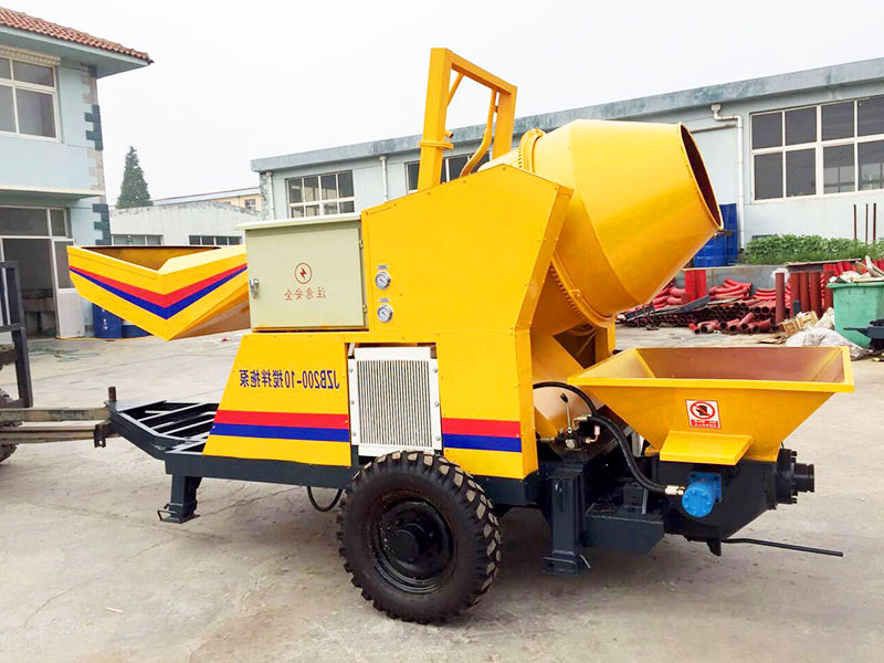 portable concrete mixer and pump